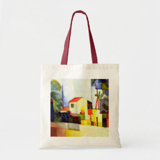 August Macke Bright House Watercolor Painting Budget Tote Bag