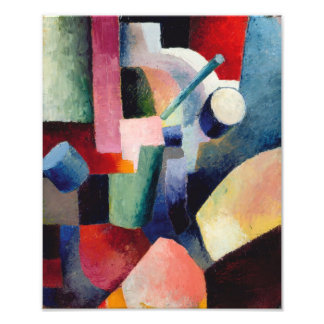 August Macke - Colored Composition of Forms Photograph