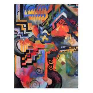 August Macke - Colored Composition Postcard