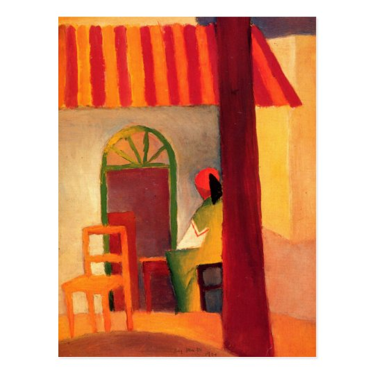 August Macke Colourful Postcard