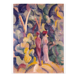 August Macke - Couple on the Forest Track 21.5 Cm X 28 Cm Flyer