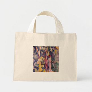 August Macke - Couple on the Forest Track Canvas Bags