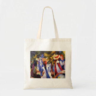August Macke - Girl in the Country 1914 Canvas Budget Tote Bag