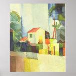 August Macke - Helles Haus 1914 Bright House