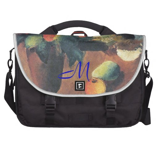 August Macke Painting - Personalized Laptop Messenger Bag