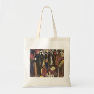 August Macke - Parting - Abschied 1914 oil canvas Budget Tote Bag