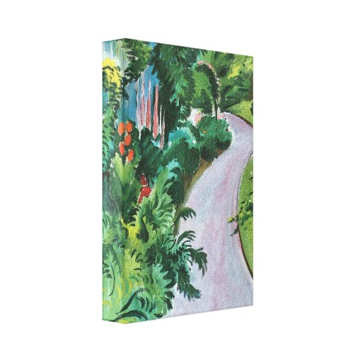 August Macke - Path in the garden Stretched Canvas Print