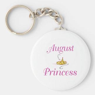 August Princess Basic Round Button Key Ring