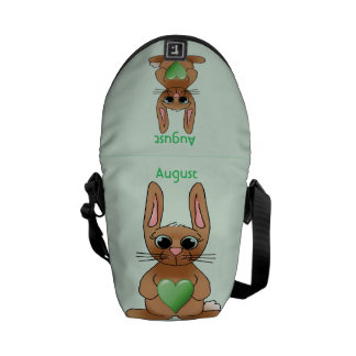 August Rabbit Birthstone Peridot Messenger Bag