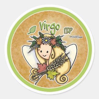 August & September - Virgo Classic Round Sticker