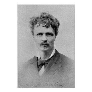 August Strindberg, 1st January, 1884 Poster
