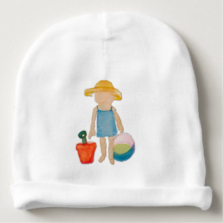 August Toddler on Summer Beach Holiday Baby Girl Baby Beanie