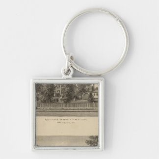 Augusta Church Stuart residence Silver-Colored Square Key Ring