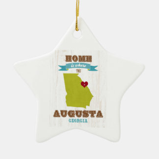 Augusta, Georgia Map – Home Is Where The Heart Is Christmas Ornament