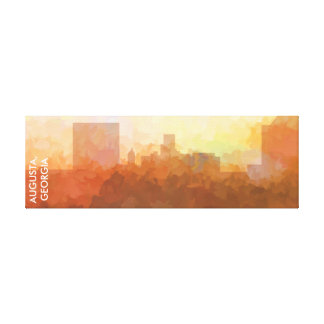 AUGUSTA, GEORGIA SKYLINE In Clouds-Wrapped Canvas Canvas Print