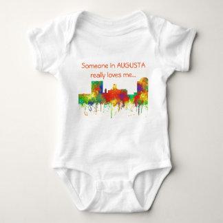 Augusta Georgia Skyline-SG Baby Bodysuit