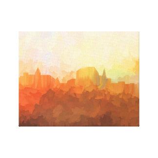Augusta Maine Skyline IN CLOUDS Canvas Print