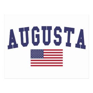 Augusta US Flag Postcard