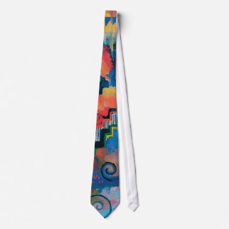 Auguste Macke - Homage To Bach Abstract Modern Art Tie