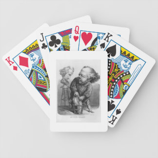 Auguste Preault (1809-79), caricature from 'Le Bou Bicycle Playing Cards