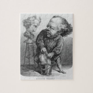 Auguste Preault (1809-79), caricature from 'Le Bou Jigsaw Puzzle