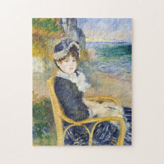 Auguste Renoir By The Seashore Art Jigsaw Puzzle