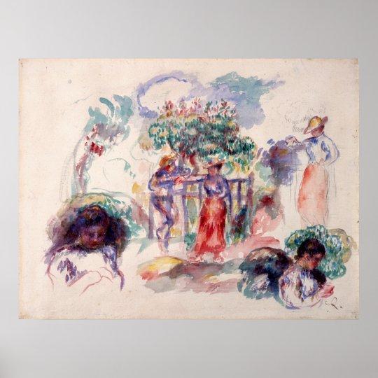 Auguste Renoir Figures under a Tree Poster