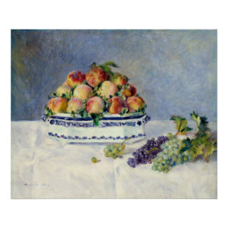 Auguste Renoir Still Life with Peaches and Grapes Poster