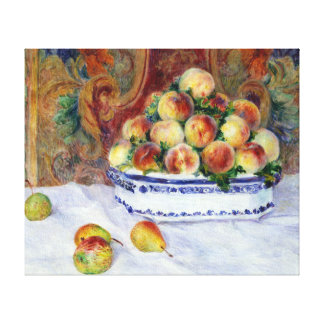 Auguste Renoir Still Life with Peaches Canvas Print