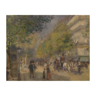 Auguste Renoir - The Grands Boulevards Wood Canvases