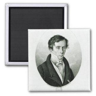 Augustin Jean Fresnel  1825 Square Magnet