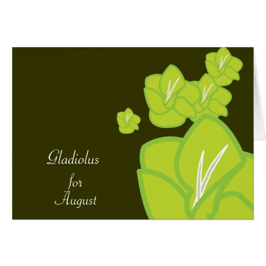 August's Birth Flower-Customise Card