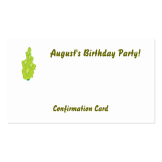 August's Birthday Party!-Customize Pack Of Standard Business Cards