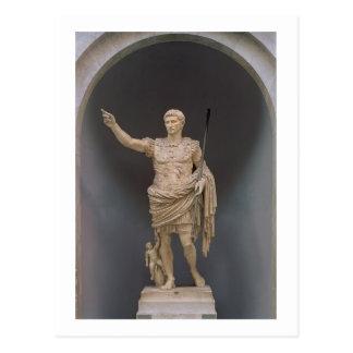 Augustus of Prima Porta, c.20 BC (marble) Postcard