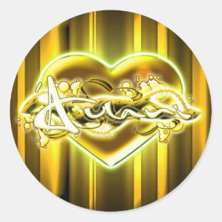 'Aulani Round Sticker