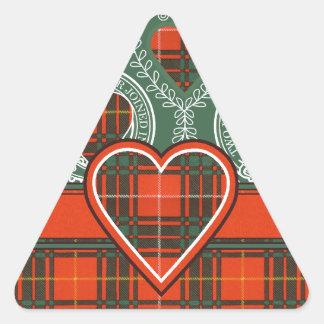 Aulay clan family Plaid Scottish kilt tartan Triangle Sticker