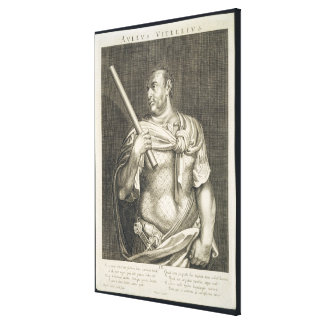 Aullus Vitellius Emperor of Rome 68 AD engraved by Gallery Wrapped Canvas