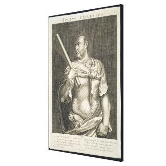 Aullus Vitellius Emperor of Rome 68 AD engraved by Canvas Print