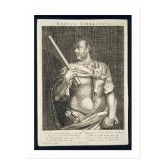 Aullus Vitellius Emperor of Rome 68 AD engraved by Postcard