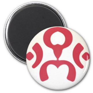 aum-man 6 cm round magnet