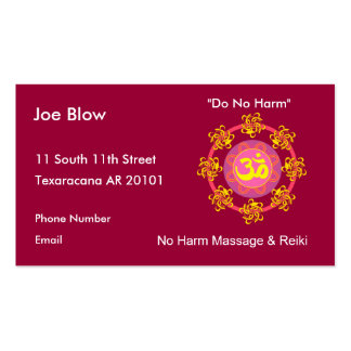 Aum or Om Symbol in yellows & pinks Double-Sided Standard Business Cards (Pack Of 100)