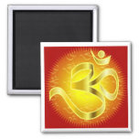 Aum or Om Symbol in yellows & reds