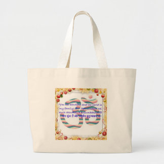 Aum : You are Beautiful and the World is Fam.jpg Large Tote Bag