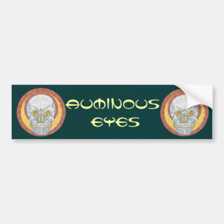 Auminous Eyes Skull Bumper Sticker