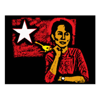 Aung San Suu Kyi Postcard