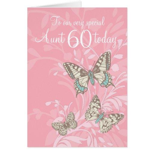Aunt 60th birthday butterflies card