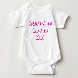 Aunt Ann Loves Me! One-Piece Shirt With Snaps