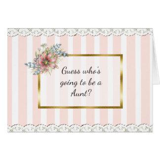 Aunt  Announcement Card
