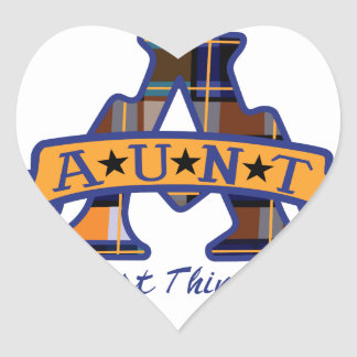 Aunt Applique Heart Sticker