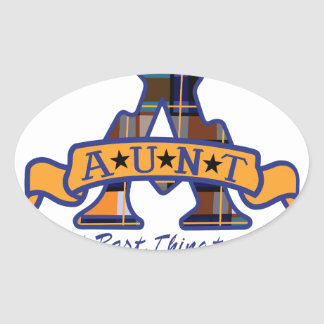 Aunt Applique Oval Sticker